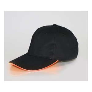 New Arrive LED Light Hat Glow Hat Black Fabric For Adult Baseball Caps Luminous 7 Colors For Selection Adjustment Size Xmas Party