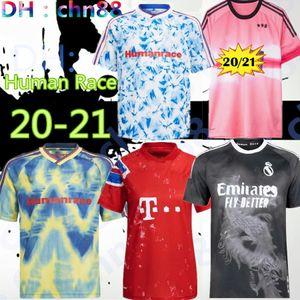 Новая RACE HUMAN 2020 2021 Реал Мадрид Манчестер Fernandes greeenwood Pogba соединенные трикотажные изделия футбола 20 21 боевых rashford Тайский футбол Джерси