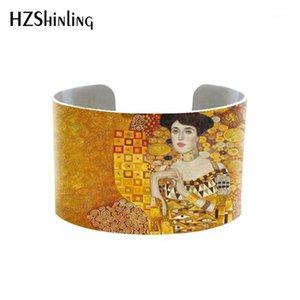 Art Parodies- Klimt cuff The Kiss on Pinterest Klimt bangle by Gustav aluminium handmade bracelet art print bangle1