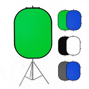 YouTube 동영상 스튜디오 100x150cm 2 일에 대한 사진 반사판 휴대용 크로 마키 백 드롭 녹색 화면 배경 배경막