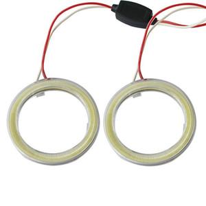 Araba Melek Gözler LED Gündüz Işık DRL Halo Halka Farlar 70mm Araba Motosiklet Oto1