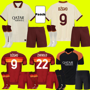 AS ROMA Adult Kids Kit 20 21 Home Away Jersey 2020 2021 Pastore Dzeko Zaniolo El Shaarawy Terceira Camisas