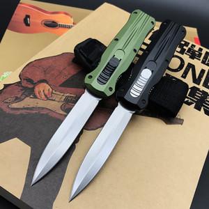 새로운 BM T6-6061 알루미늄 핸들 D2 더블 액션 전술 야외 자동 칼 사냥 자기 방어 포켓 나이프 마이크로 ut85 전투 Trood