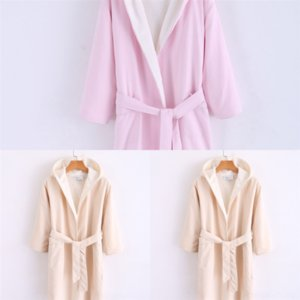 MEa bathrobe Winter Robe New Thicken for Children Flannel Warm Lengthen Arrival Bathrobe Hooded cotton towel child SALU Dressing Gown Girl