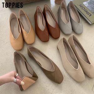 mujer Toppies bayan ayakkabıları yaz düz ayakkabılar kadınlar suni deri şık ofis zapatos 201022