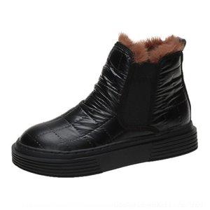 Qibm agsan winter warm knöchel schnee stiefel plüsch schuhe russische wasserdichte gummi herren für outdoor schuhe spitze stiefel schuhe