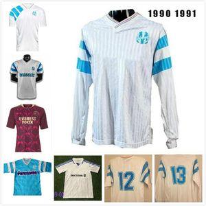 Retro classic 1990 1991 1992 1993 Marseille soccer jerseys Olympique de Marseille 92 93 DESAILLY Retro football shirt S-2XL