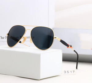 design Men Luxury Glasses Women Polarized UV400 Pilot Sunglasses Ray Eyewear Polaroid box Metal Bans Frame Lens 3517 With Sunglasses Lvjot