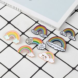 Rainbow Enamel Brooch For Women Men Gay Lesbian Pride Lapel Pins badge Fashion Jewelry brooches de créateurs BY DHL