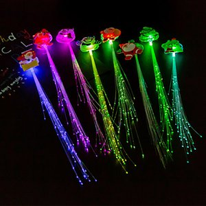 Creative Colorful Luminous Braids For Christmas Party Led Fiber Braids Party Flashing Props Free Shipping GGB2372