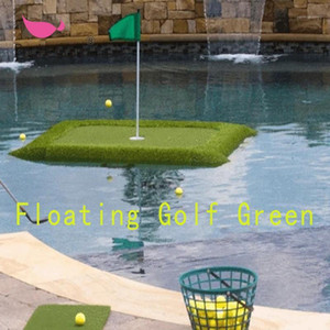 Hot New Floating Golf Green Golf Outdoor Practice Künstliches Gras Turf Ridge Water Fun Cut Club Packung Drop Shipping1