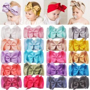 5 Inch Soft Elastic Nylon Headbands Hair Bows Headbands Hairbands for Baby Girl Toddlers Infants Newborns