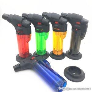 new arrive portable Butane gas Torch 1300 Jet flame Windproof Refill cigar Lighter kitchen Tool Spray Gun Jet Flame lighter dhl free