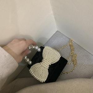 Сумки на плечо Мини-лук женская сумка 2021 прилив цепь рот красный конверт вскользь роскошные сумки женщины дизайнер