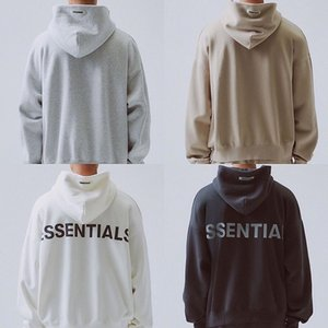 20ss Fashion Autumn Winter Fear Of God 6th Essentials 3M Reflective Hoodie Skateboard Loose Hoodie Fog Hoody Unisex Hooded Sweatshirt