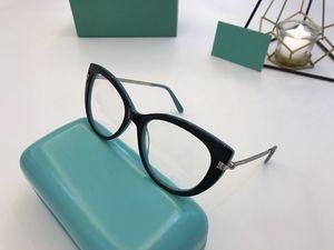 2020 الأحدث TF4377 Eleglant المرأة Cateye النظارات الإطار 54-15-140 المستوردة نقي plankMetal الديكور لصفة قصر النظر fullset صندوق