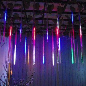 Party Decoration Lights Meteor shower light string LED Light Bar Decorative Waterproof Tube Colored Light 8 lamps set T2I51643