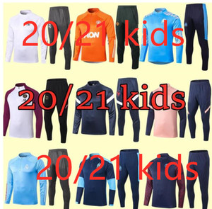 Çocuklar seti çocuklar çocuk ayakkabı giysi futbol eşofman çocuklar 20 21 futbol kitleri Retro futbol forması futbol antrenman takım formaları eşofman