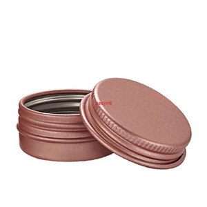 100Pcs 15g 5g 10g 30g Rose Gold Aluminum Cream Jar Lip Scrub Container Makeup Gloss Empty Cosmetic Metal Tins Containersfor shipping