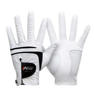 1 Pcs Breathable Golf Glove Men's Left Hand Super Fine Cloth Soft White Size 22#-27# Golf Accessories MJ 201027