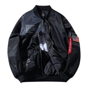 Brasão remendo Moda Outono Capítulo Motocicleta militar Militar Jackets Men vôo piloto da Força Aérea da Nova Men M-6XL Bomber Jacket