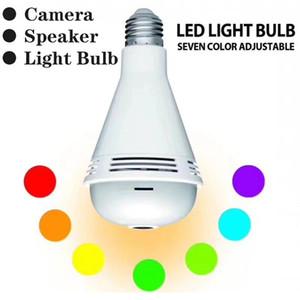WiFi Lamp Bulb Camera IP 960P Fisheye Wireless Panoramic Home Security 360 DegreeCCTV 7 Light Bluetooth Music Speaker Camera