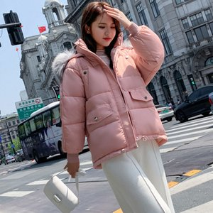 Orwindny Women's Hooded Thick Warm Winter Short Down Parkas Female Jacket Big Fur Coat Cotton Padded Jackets2020