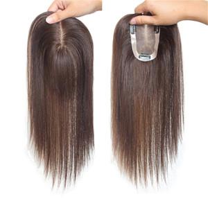 Base de seda llena 6x12 100% Toppers de pelo humano pelucas Piezas de cabello humano para mujeres Peluca de pelo humano Peluca