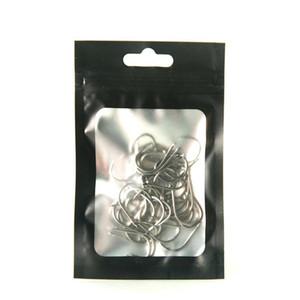 Запах доказательство без запаха без запаха беззависимо от пальто фольги с четкой оконной матовой черной пищей безопасный герметичный ziplock Dropshipping D060 157 K2