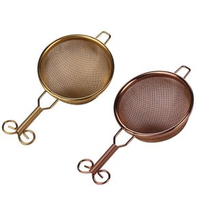 Vintage thé Passoire en acier inoxydable Mesh thé Filtre Passoire en céramique poignée Loose Leaf Tea Infuser Gongfu thés Accessoires FWD2917
