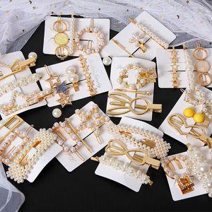 3pcs set Metal Pearl Hair Clip Pin Barrette Hairpin For Women Girls Beauty Hair Accessories Hairpins Hairclip