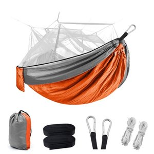 Camping Hammock With Net-Lightweight Double Hammocks Portable Indoor Outdoor Hiking Camping Backpacking Travel Backyards Beach
