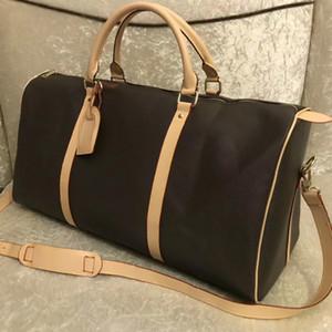 2016 yeni moda erkek bayan seyahat çantası spor çantası, deri bavul çanta büyük kapasiteli spor çanta 62CM