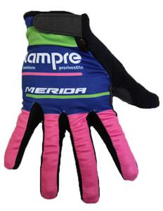 2021 Lampre Зимние перчатки Велоспорт MTB Дорожные перчатки горный велосипед длинный палец варежку Мужчины руно велосипедов Тренажерный зал Фитнес Нескользящие Спортивные перчатки