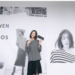 Çizgili 2021 Yeni Yün Boy Kazak Kadın Kış Giysileri Lüks Tasarımcı Vintage 2E5 W P4CJ