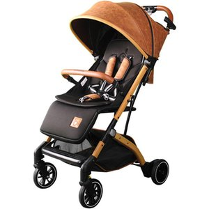 2020 Baby stroller super light foldable baby stroller can sit on the easy lying umbrella car BB trolley on the plane 15 Kg