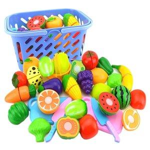 Pretend Play Play Plastic Food Toy Taglio Frutta Cibo Verdura Pretend Play Giocattoli per bambini per bambini Giocattoli educativi LJ201211