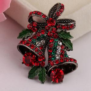 Deux belles Bow Bells pour les femmes Brooches Noël Costume Pins Broches Vintage Creative Bijoux Cadeau Manteau Robe Accessoires RRA3667