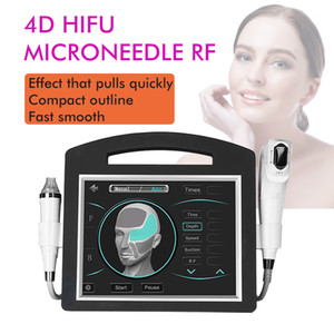 NEW 2IN1 4D Hifu Gold RF Radio Frequency Fractional RF Focused Ultrasound 4D Hifu Machine