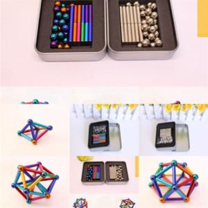 xre7 et magnetic العصي الذكاء الكرات لعبة اللبنات buckyball البناء مصمم معدني لعب ل squishy لغز الضغط