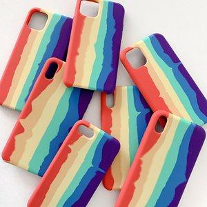 Capa oficial de silicone líquido de arco-íris para iPhone 12 pro máximo 12 mini 11 pro max xr xs 8 7 mais 6s se blister pacote 50pcs / lote