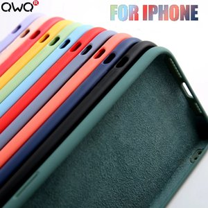 Original Liquid Silicone Luxury Case For Apple iPhone 12 11 Pro Max mini 7 8 6 6S Plus XR X XS MAX 5 5S SE Shockproof Case Cover