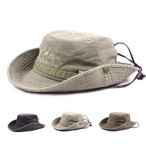 STINGY BRIM HATS Рыбацкая шапка Человек идет на рыбалку Весна Лето на открытом воздухе Солнца Хлопчатобумажная шапка Net Cap Ma'am Hats1