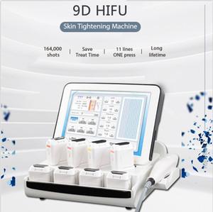 Skin Rajeunissement 9D HIFU Face Face Corps de levage Minceur Soulever Dont 8 cartouches optionnelles Machine de serrage de la peau CE approuvé