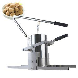 Çok fonksiyonlu paslanmaz çelik manuel köfte oluşturma makinesi, sebze köfte makinesi, balık topu, köfte kalıp aracı