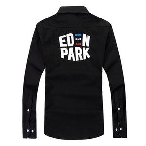Eden Park Meilleures ventes en France Hommes Shirt manches pleine de haute qualité Homme taille M à 3XL Chemise respirant confortable pur coton pour hommes T-shirt