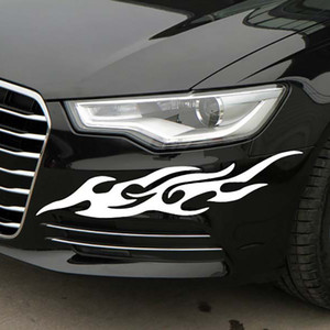 Retrofit Flame Totem Car Sticker Scratch Blocking Car Rearview Mirror Sticker Headlight Car Body