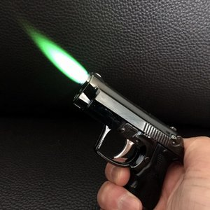 CRIATILY MINI GUN LUGADOR JAN JET FLAMA TORCHE LUGADA CRIANÇA PESADA PESADA REFILÍFICA MICRO CULLINE LUZ PARA Fumar Levador LED