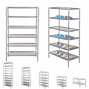 2 4 6 8 10 Tiers Non-Woven Fabric Dustproof Shoe Rack Storage Organizer Cover Cabinet Shelf Cabinet 6 12 18 24 30 Pairs 201030