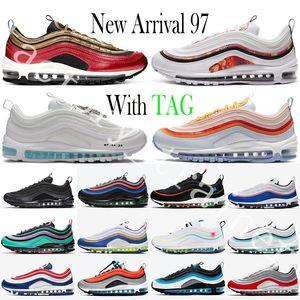 Air Max 97 2020 Bred Buharı 97 Erkek Sneaker Balck Metalik Altın Gerileme Var günde South Beach Kadınlar Sneakers Trainer maxes Boyut 36-45 Koşu Ayakkabıları